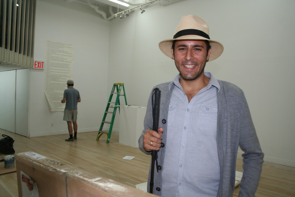 Carmen Papalia - Smiling in a Working Gallery Space
